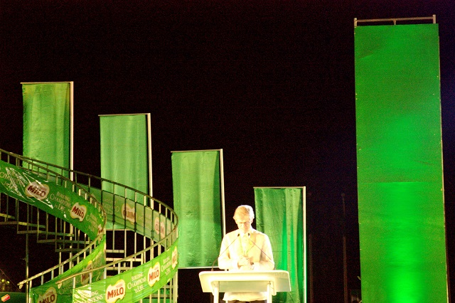 Nestle Philippines Inc. president and CEO John Martin Miller declares the 6th MILO Little Olympics National Finals 2014 open.