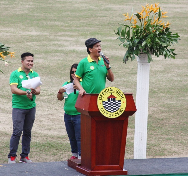 """We recognize that without DepEd, the teachers, the principals, the supervisors and most of all the students and parents, there will be no memorable sports activities"" - Cebu City Michael Rama"
