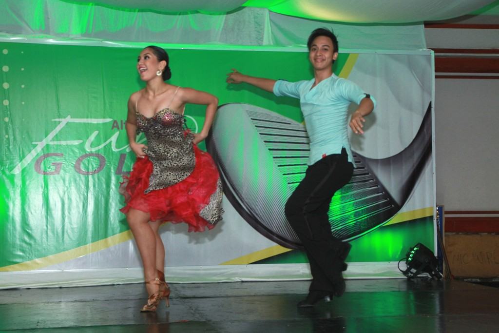 Dancesport champions Pearl Marie Cañeda and Wilbert Aunzo were special performers during the awards ceremony.