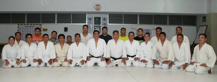 The Hijos de Roa and Lexmark Judo Club members