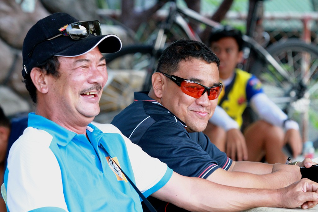 Raffy Musni and Glenn Quisido, members of the board of the Cebu Football Association share a light moment.