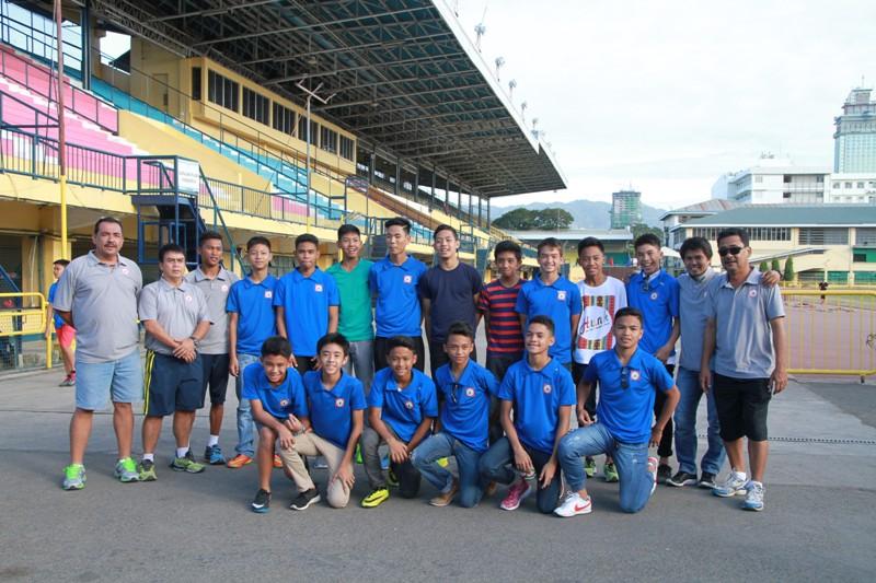 The boys U-14 team