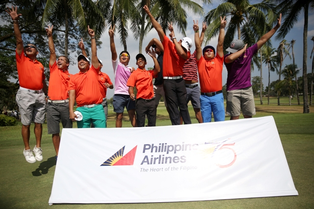 Manila Southwoods players celebrate after successfully defending their title in the 69th PAL Interclub in Mimosa.
