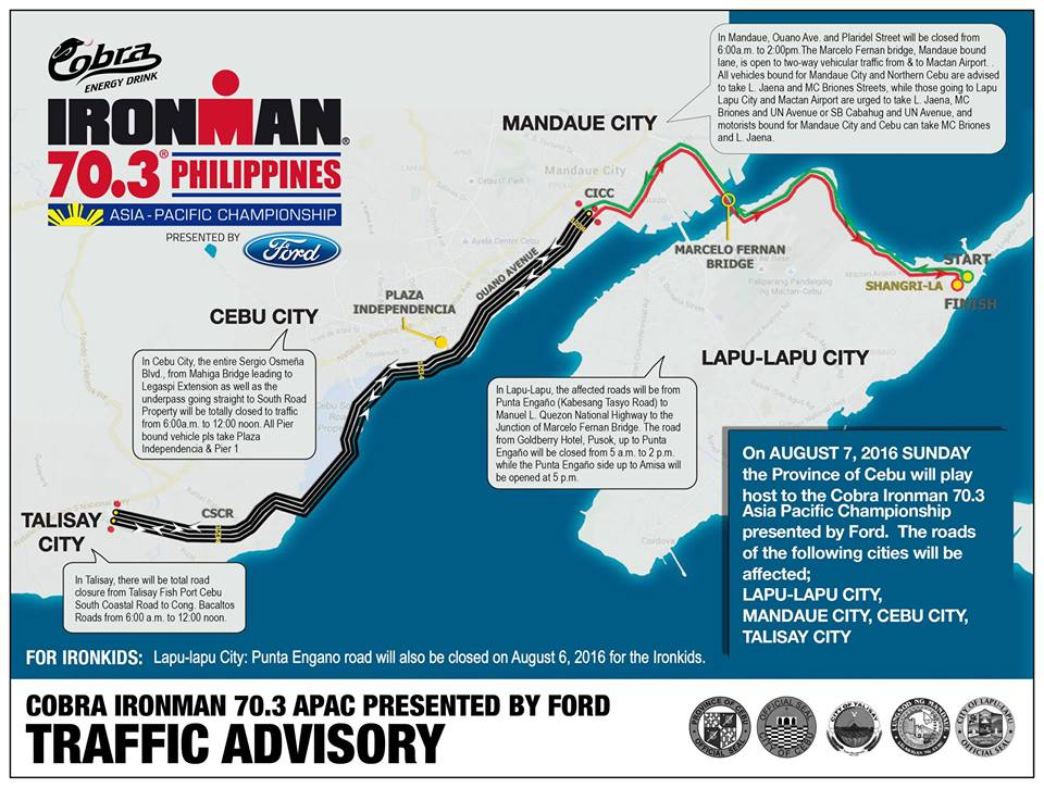 Traffic advisory for Sunday
