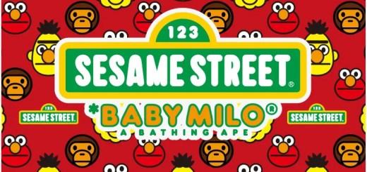 エイプ × セサミストリートのコラボアイテムが4/25から発売!(A BATHING APE × SESAME STREET)