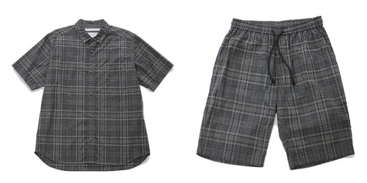 ホワイト マウンテニアリング (White Mountaineering)から「オックスフォードチェック生地シリーズ」のシャツ、パンツ、TEE等が6/1から発売!