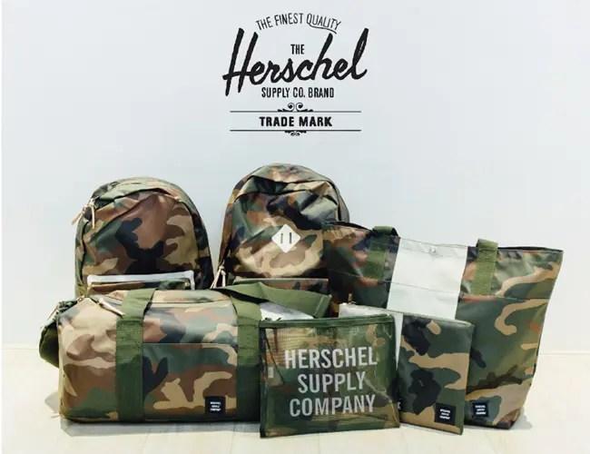 ハーシェル サプリーからカモフラ柄の「WOODLAND CAMO」が一挙6アイテム発売! (Herschel Supply Co)