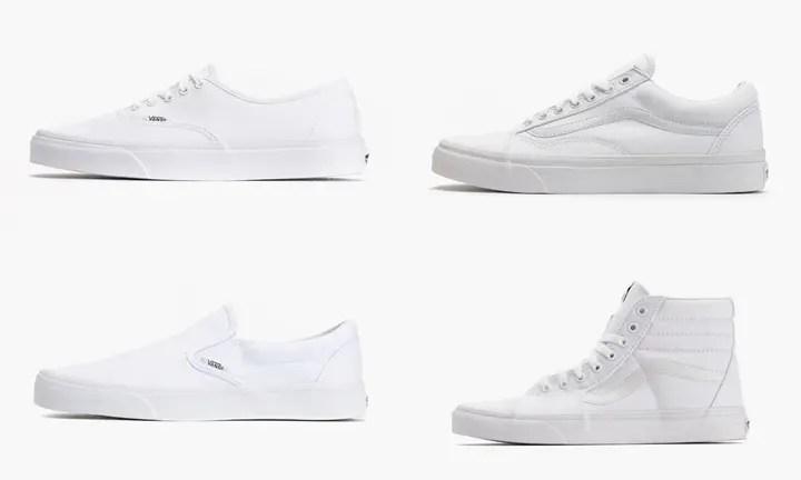 オールホワイトのVANS「Sk8-Hi」「Authentic」「Slip-On」「OLD SKOOL」が海外展開! (バンズ True White)