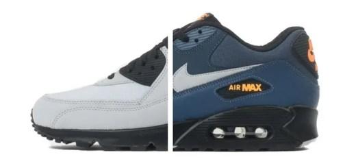 海外展開!ナイキ エア マックス 90 エッセンシャル ウルフグレー/スクアドラン (NIKE AIR MAX 90 ESSENTIAL Wolf Grey/Squadron Blue) [537384-049,413]