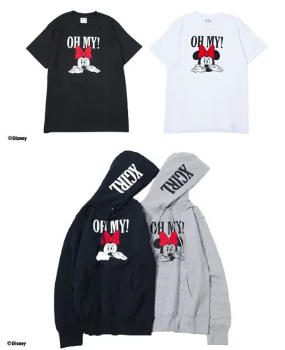 X-girl IKSPIARI/calif限定!ミニーのTシャツとプルオーバーフーディーが発売中! (エックスガール イクスピアリ)