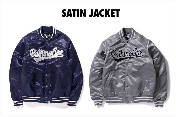 A BATHING APEから高級感溢れるサテン生地を使用したジャケットが1/9から発売!(エイプ)