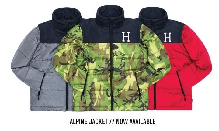 HUFから軽量かつ高精度な化繊素材を中綿に使用した「ALPINE JACKET」が発売! (ハフ)
