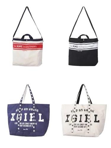 2月上旬発売!X-girl 「LOGO&STARS TOTE BAG」「TXCC LOGO 2WAY BAG」 (エックスガール)