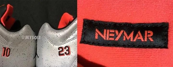 ネイマール × ナイキ エア ジョーダン 5 メタリックシルバー (Neymar NIKE AIR JORDAN 5 Metallic Silver)