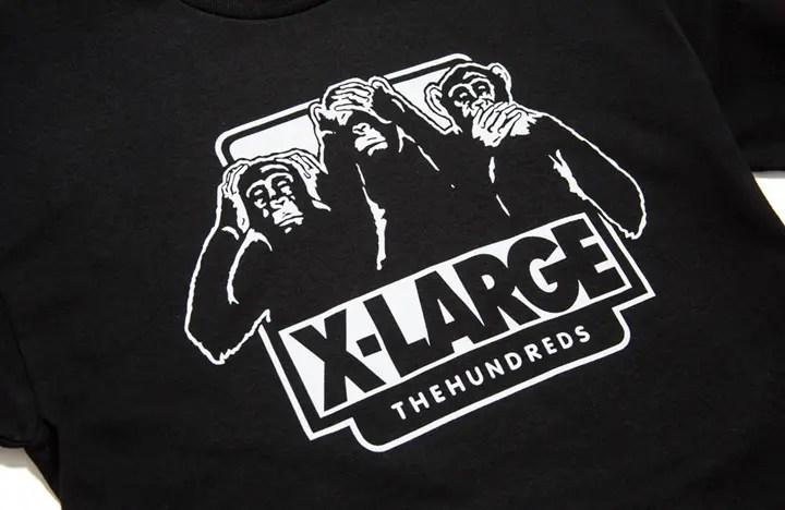 """6/3発売!X-large × THE HUNDREDS """"THE THREE WISE MONKEYS"""" TEE/キャップ (エクストララージ ザ・ハンドレッツ)"""