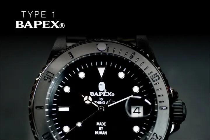 A BATHING APEから腕時計シリーズの「BAPEX」最新作!「TYPE 1 BAPEX」3カラーが6/4から発売!(エイプ)