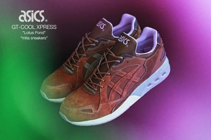 """9/3緊急発売!「不忍池」からインスパイアされたmita sneakers × ASICS Tiger GT-COOL XPRESS """"Lotus Pond"""" (ミタスニーカーズ アシックス タイガー ジーティー クール エクスプレス """"ロータス ポンド"""") [TQK6J3-6160]"""