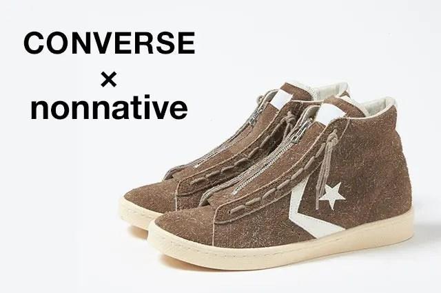 9月発売!nonnative × CONVERSE PRO-LEATHER HI (ノンネイティブ コンバース プロレザー ハイ)