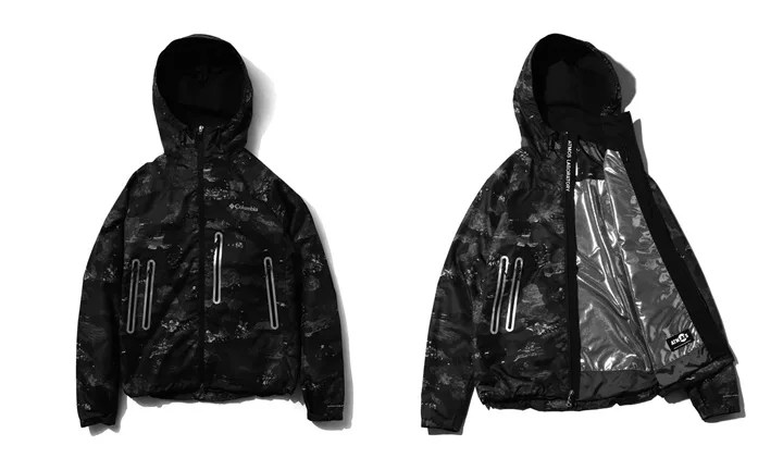 "9/17発売!Columbia × ATMOSLAB 「Decruz Summit Jacket ""COAL CAMO""」 (コロンビア アトモスラボ)"