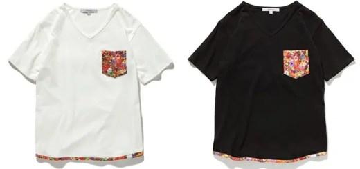 rehacerからポケットとラウンドした裾周りにオリジナルのフラワーファブリックを使用したカットソー「Engage Pocket Cut Sew」が10月下旬発売! (レアセル)