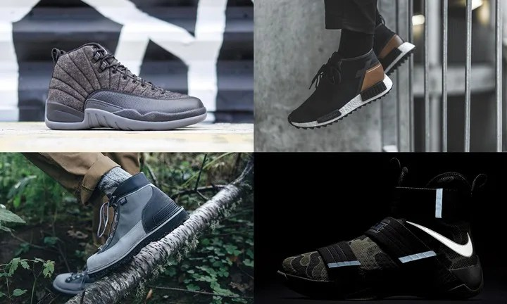 "【まとめ】10/1発売の厳選スニーカー!(NIKE AIR JORDAN 12 WOOL ""Dark Grey"")(adidas Originals NMD_XR1_C1 TRAIL PREMIUM LEATHER & WMNS NMD_R1 TRAIL)(NIKE LEBRON SOLDIER 10 SFG EP)(new balance x Danner)他"