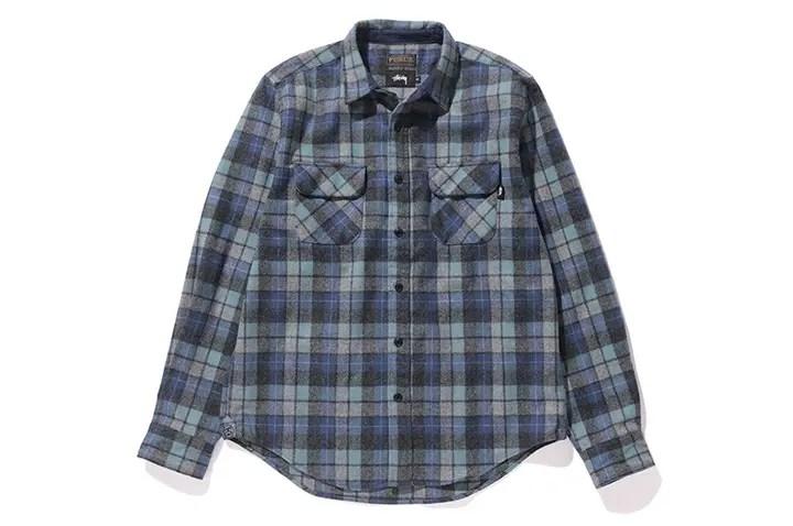 10/14発売!STUSSY × PENDLETONとのオリジナルパターンの生地をまとうウールシャツがリリース! (ステューシー ペンドルトン)