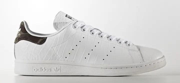 """クロコダイル × カモフラのアディダス オリジナルス スタンスミス (adidas Originals STAN SMITH """"White Croc"""")"""