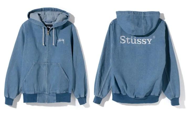 STUSSYからインディゴブルーのデニム地をまとったフルジップ仕様の「Atlantic Hood Jacket」が展開中!(ステューシー アトランティックフードジャケット)
