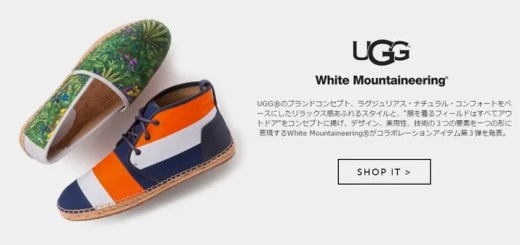UGG × White Mountaineering コラボ第3弾!トロピカルパターンアイテムが日本限定で3/18から発売 (アグ ホワイトマウンテニアリング)