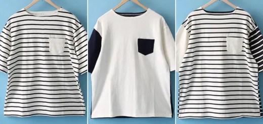 web限定!coenから夏には欠かせないバスクシャツをビッグシルエットで表現した「バスクビッグシルエットTEE」が6月上旬発売! (コーエン)