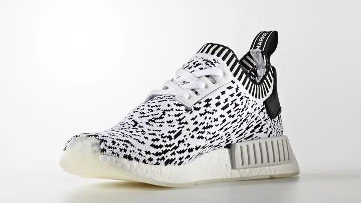 "adidas Originals NMD_R1 PRIMEKNIT {PK} ""White/Black"" (アディダス オリジナルス エヌ エム ディー ランナー プライムニット ""ホワイト/ブラック"") [BZ0219]"