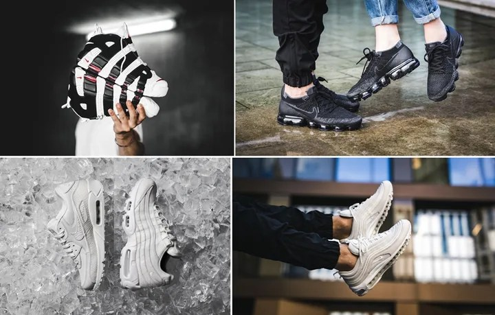 "【まとめ】6/29発売のNIKE厳選スニーカー!(AIR MORE UPTEMPO ""White/Black"")(AIR VAPORMAX FLYKNIT ""Black/Anthracite"")(NIKE AIR MAX 90/95/97 ""Summit White"")他"