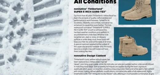 GORE-TEXを使用!nonnative × Timberland 6inch Premium Bootが9/2発売 (ノンネイティブ ティンバーランド)