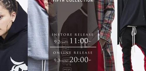 NUBIAN オンラインにてFEAR OF GOD FIFTH COLLECTION (フィア オブ ゴッド フィフス 5th コレクション)が9/3 20:00~から展開!