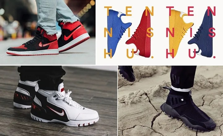 "【まとめ】9/9発売の厳選スニーカー!(NIKE AIR JORDAN 1 FLYKNIT ""BANNED"")(Pharrell Williams x adidas Originals Human Race Tennis HU ""Solids"")(AIR ZOOM GENERATION QS ""King's First"")(adidas Originals by White Mountaineering 2017 F/W)他"