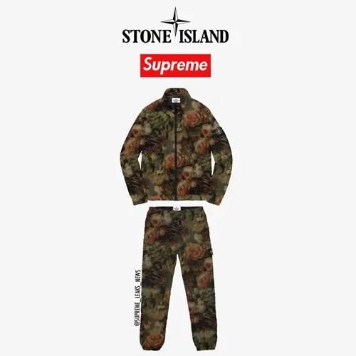 【リーク】シュプリーム × ストーンアイランド フラワーパターンのトラックスーツ (SUPREME Stone Island 2017 F/W)
