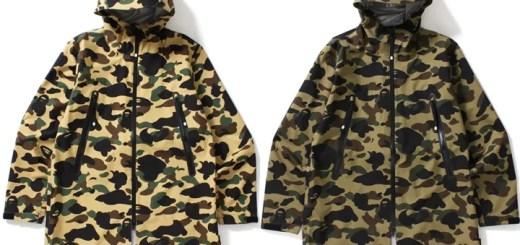 A BATHING APEからGORE-TEX素材を使用したジャケット「1ST CAMO LONG HOODIE JACKET」が9/23発売! (ア ベイシング エイプ)