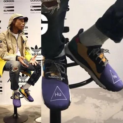 """【ニューモデルか?】Pharrell Williams x adidas Originals HU """"Purple/Yellow"""" (ファレル・ウィリアムス アディダス オリジナルス """"パープル/イエロー"""")"""