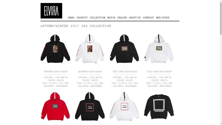 ELVIRA 2017 AUTUMN/WINTER COLLECTION 3rd Dropが11/18から展開 (エルヴィラ)