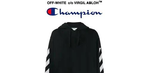 OFF-WHITE C/O VIRGIL ABLOH x mastermind x Champion トリプルコラボスウェットが登場 (オフホワイト マスターマインド チャンピオン)