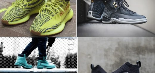 "【まとめ】11/18発売の厳選スニーカー!(adidas Originals YEEZY 350 BOOST V2 ""Semi Frozen Yellow"")(NIKE AIR JORDAN 12 RETRO ""Dark Grey"")(NMD_CS1 PK GORE-TEX ""White/Black"")(atmos × Timberland 6 INCH PREMIUM BOOTS ""TEAL BLUE WATERBUCK"")他"