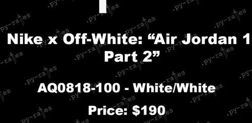 """2018年展開予定!OFF-WHITE c/o VIRGIL ABLOH × NIKE AIR JORDAN 1 RETRO HIGH OG """"Part 2"""" (オフホワイト ナイキ エア ジョーダン 1 レトロ ハイ OG """"パート 2"""") [AQ0818-100]"""