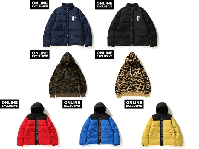 A BATHING APE ONLINE EXCLUSIVE 新作が12/1からリリース (ア ベイシング エイプ オンライン 限定)