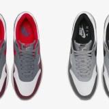 """【オフィシャルイメージ】ナイキ エア マックス 1 """"ユニバーシティー レッド/ウルフ グレー"""" (NIKE AIR MAX 1 """"University Red/Wolf Grey"""") [AH8145-100,101]"""