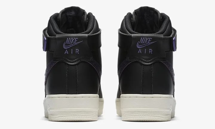 """ナイキ エア フォース 1 ハイ 07 """"ブラック/パープル ダイナスティー"""" (NIKE AIR FORCE 1 HIGH 07 """"Black/Purple Dynasty"""") [806403-014]"""