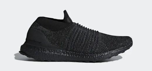 """2018年1月発売!アディダス ウルトラ ブースト レースレス """"トリプル ブラック"""" (adidas ULTRA BOOST LACELESS """"Triple Black"""") [BB6222]"""