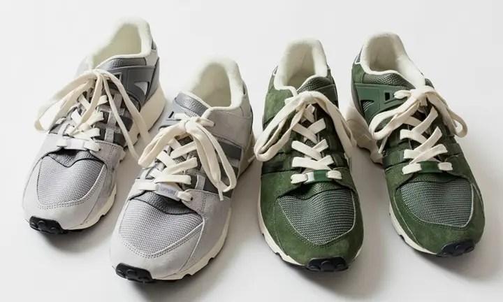 """4月上旬発売!シップス限定 アディダス オリジナルス エキップメント サポート RF """"グレー/グリーン"""" (SHIPS adidas Originals EQT SUPPORT RF """"Grey/Green"""")"""