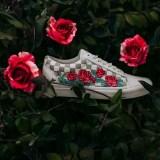 "VANS OLD SKOOL DX ""Rose Embroidery"" Marshmallow (バンズ オールド スクール ""ローズ エンブロイダリー"" マッシュルーム)"