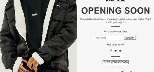 M+RC NOIR 2018年 最初のニューコレクションが近日展開予定 (マルシェノア)