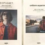 SOPHNET./uniform experiment 2018 S/S COLLECTION が1/29から展開! (ソフネット/ユニフォーム・エクスペリメント 2018年 春夏 コレクション)